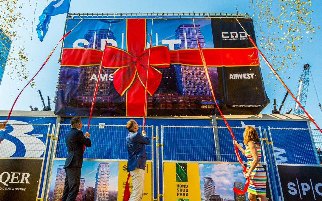 Bouw van SPOT Amsterdam feestelijk van start