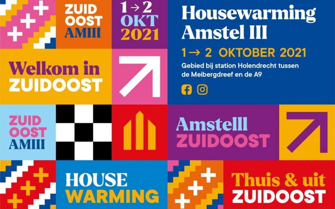 Bezoek de Housewarming Amstel III op zaterdag 2 oktober